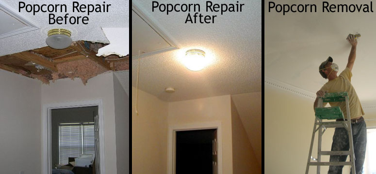 Finish A Ceiling After Removing Popcorn